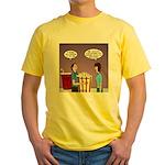 Movie Pop and Popcorn Yellow T-Shirt
