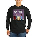 Movie Pop and Popcorn Long Sleeve Dark T-Shirt