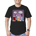 Movie Pop and Popcorn Men's Fitted T-Shirt (dark)