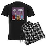 Movie Pop and Popcorn Men's Dark Pajamas