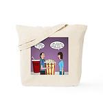 Movie Pop and Popcorn Tote Bag