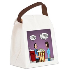 Movie Pop and Popcorn Canvas Lunch Bag