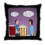 Movie Pop and Popcorn Throw Pillow