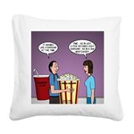 Movie Pop and Popcorn Square Canvas Pillow