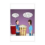 Movie Pop and Popcorn Mini Poster Print