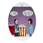 Movie Pop and Popcorn Ornament (Oval)