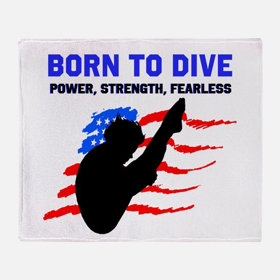 TOP DIVER Throw Blanket
