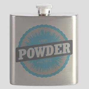Powder Mountain Ski Resort Utah Sky Blue Flask