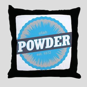 Powder Mountain Ski Resort Utah Sky Blue Throw Pil
