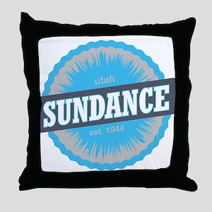 Sundance Ski Resort Utah Sky Blue Throw Pillow