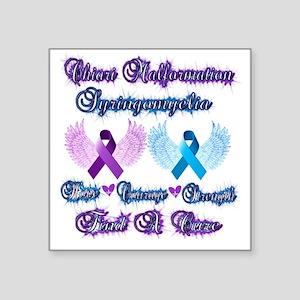 """Chiari Malformation/Syringo Square Sticker 3"""" x 3"""""""