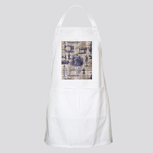 Vintage Sewing Toile Light Apron