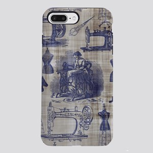 Vintage Sewing Toile iPhone 7 Plus Tough Case