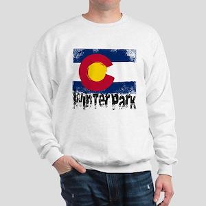 Winter Park Grunge Flag Sweatshirt