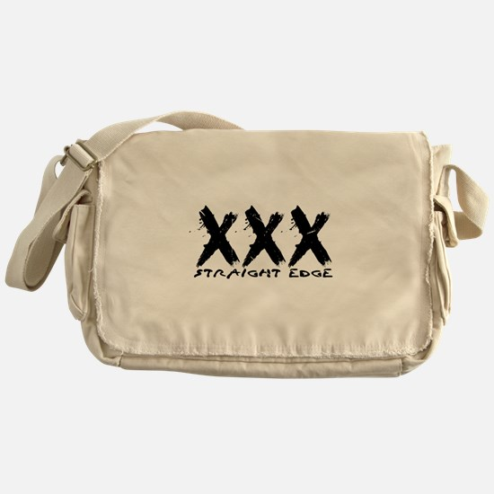 XXX Straight Edge Hardcore Punk Messenger Bag