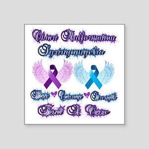 "Chiari/Syringomyelia Square Sticker 3"" x 3"""