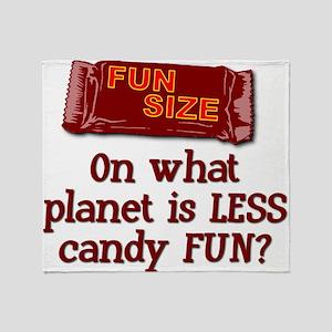 Fun Size Candy Throw Blanket
