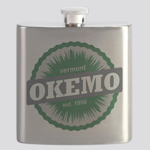 Okemo Mountain Ski Resort Vermont Dark Green Flask