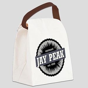 Jay Peak Ski Resort Vermont Black Canvas Lunch Bag