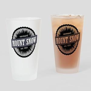 Mount Snow Ski Resort Vermont Black Drinking Glass