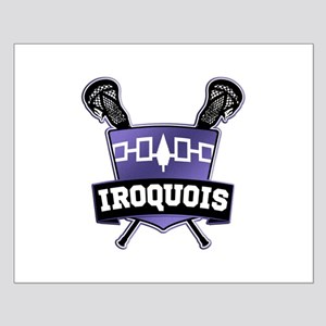 Iroquois Nation Flag Lacrosse Logo Posters