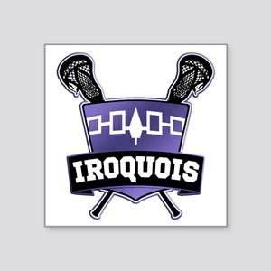 Iroquois Nation Flag Lacrosse Logo Sticker