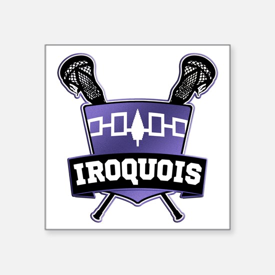 Iroquois Nation Flag Lacrosse Logo Sticker