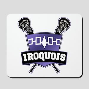Iroquois Nation Flag Lacrosse Logo Mousepad