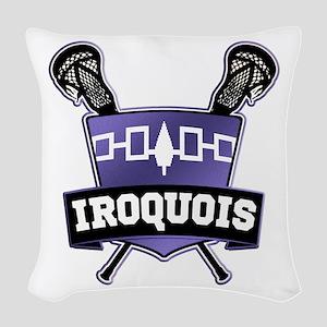 Iroquois Nation Flag Lacrosse Logo Woven Throw Pil