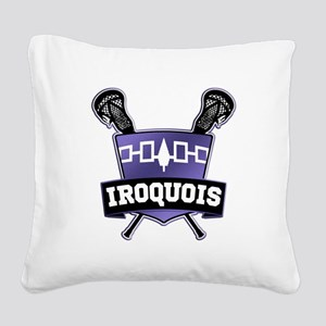 Iroquois Nation Flag Lacrosse Logo Square Canvas P