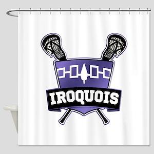 Iroquois Nation Flag Lacrosse Logo Shower Curtain