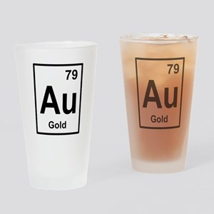 gold periodic element Drinking Glass