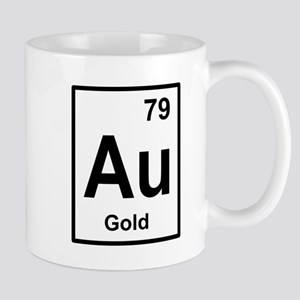 gold periodic element Mugs