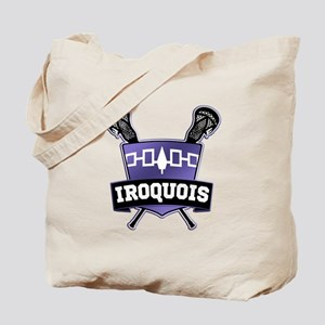 Iroquois Nation Flag Lacrosse Logo Tote Bag