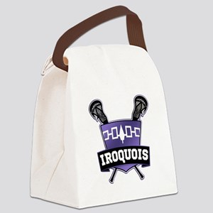Iroquois Nation Flag Lacrosse Logo Canvas Lunch Ba