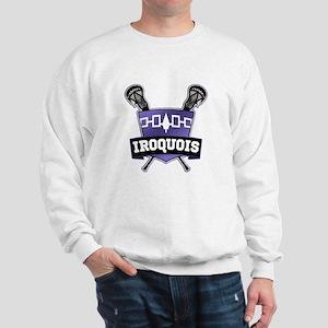 Iroquois Nation Flag Lacrosse Logo Sweatshirt