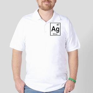 Silver Periodic Element Golf Shirt
