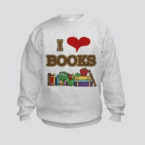 I Love Books Kids Sweatshirt