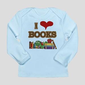 I Love Books Long Sleeve Infant T-Shirt