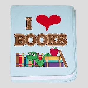 I Love Books baby blanket