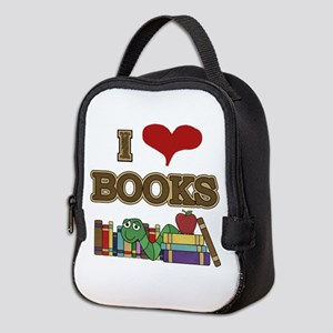 I Love Books Neoprene Lunch Bag
