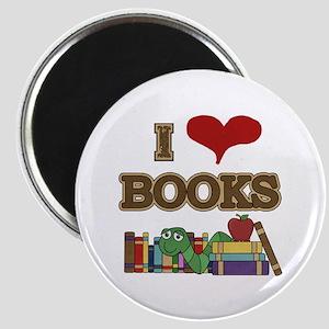 I Love Books Magnet