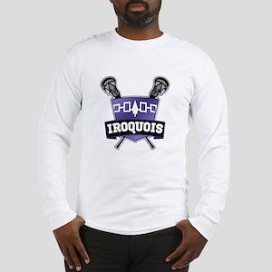 Iroquois Nation Flag Lacrosse Logo Long Sleeve T-S