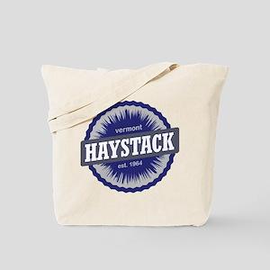 Haystack Ski Resort Vermont Navy Blue Tote Bag