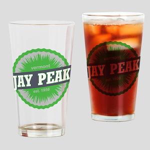 Jay Peak Ski Resort Vermont Lime Green Drinking Gl