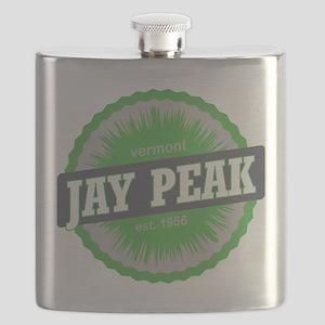 Jay Peak Ski Resort Vermont Lime Green Flask