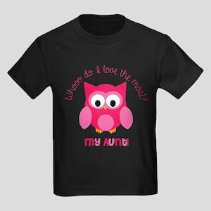 Who? My aunt! Kids Dark T-Shirt