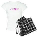 Cure Pink Hearts Breast Cancer 47 Pajamas