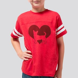 chihuahua-black Youth Football Shirt