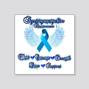 "Syringomyelia awareness Square Sticker 3"" x 3"""